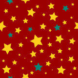 Yellow Green Stars Red Christmas Background. Royalty Free Stock Images