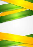 Yellow and green stripes abstract vector background Royalty Free Stock Image