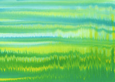 Yellow green strips watercolor background. Abstract watercolor painted background. Bright yellow, green, blue colors used, childish look Royalty Free Stock Photography