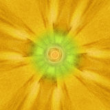Yellow and Green Surreal Macro Flower stock photography