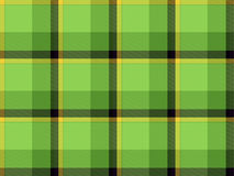Yellow-green tartan Stock Photography