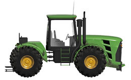 Yellow and green tractor Stock Photos