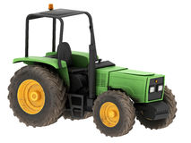 Yellow and green tractor Royalty Free Stock Photos