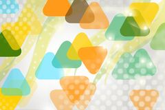Yellow and green triangle overlap, abstract background Royalty Free Stock Photo