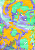 Yellow, green and violet abstract hand painted background Royalty Free Stock Photos