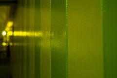 Yellow green wall with lights. Yellow green wall background with lights Stock Image