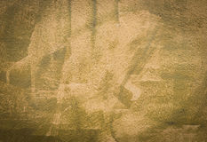 Yellow-green wall stucco texture as background Royalty Free Stock Photo