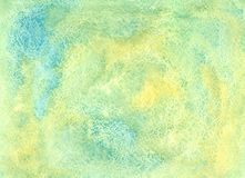 Yellow green watercolor Stock Photography