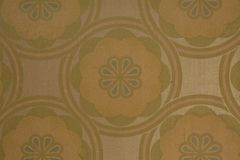 Genuine retro wallpaper in an old 70's house. Yellow, green and white genuine retro wallpaper in an old 70's house, Australia royalty free stock images
