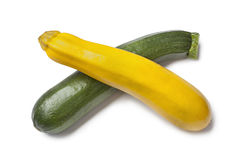 Yellow and green zucchini Royalty Free Stock Photos