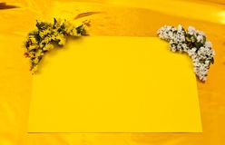 Yellow greeting card Stock Images