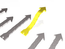 Yellow and grey arrows Royalty Free Stock Photo