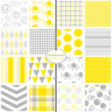 Yellow & Grey Baby Paper Stock Photos