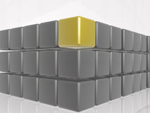 Yellow and grey cubes Royalty Free Stock Photography