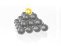 Yellow and grey spheres Stock Images