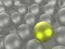 Yellow and grey spheres. As abstract background, 3D illustration vector illustration