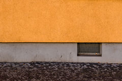 A yellow and grey wall - background. Yellow and grey wall - background Stock Images