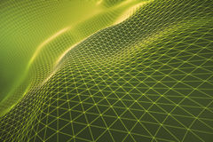 Yellow grid waves Royalty Free Stock Photos