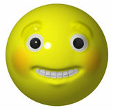 Yellow Grinning Ball Royalty Free Stock Photo