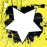 Yellow Grunge background with black spots Stock Photos