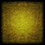 Yellow grunge background of circle pattern Stock Photo