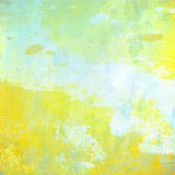 Yellow grunge background Stock Images