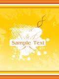 Yellow grunge background illustration Royalty Free Stock Photo