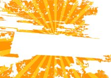 Yellow grunge background with rays (vector) Stock Photography