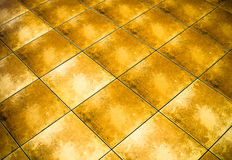 Yellow grunge checkered marble pattern Royalty Free Stock Photos