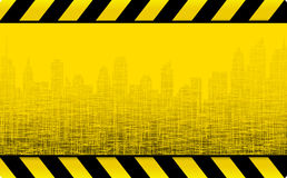 Grunge construction background with city Royalty Free Stock Photos