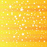 Yellow grunge star background, vector illustration Stock Photography