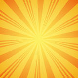 Yellow grunge sunbeam background. Sun rays abstract wallpaper. Surface pattern design with symmetrical lines ornament. Stock Image