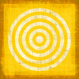 Yellow Grunge Target. Yellow target design on textured canvas grunge style Royalty Free Stock Photos