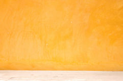 Yellow grunge wall with street Stock Photography
