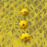 Yellow grungy Flower Background Royalty Free Stock Images