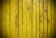 Yellow Grungy Wooden Plank Royalty Free Stock Photos