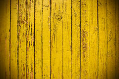 Yellow grungy wooden plank Stock Photography