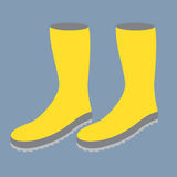 Yellow Gum Boots. Stock Photos