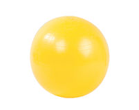 Yellow gyms ball isolated  Stock Photography