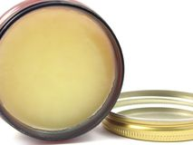 Yellow hair wax Royalty Free Stock Images