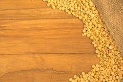 Yellow half bean Royalty Free Stock Photos