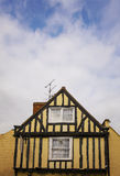 Yellow half timbered house Royalty Free Stock Photography
