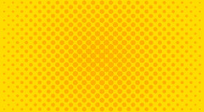 Yellow halftone background. Vector illustration. Royalty Free Stock Images
