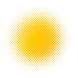 Yellow halftone blur Royalty Free Stock Photos