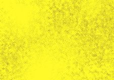Yellow halftone dotted contrast background template Stock Photography