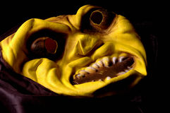 Yellow Halloween mask Royalty Free Stock Image