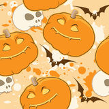 Yellow Halloween pattern Royalty Free Stock Photography