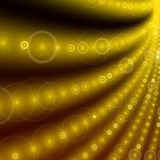 Yellow halo curves background Stock Image