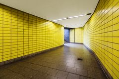 Yellow Hamburg metro Royalty Free Stock Photos