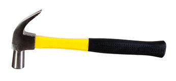 Yellow hammer on white Stock Photography